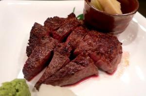 5増田牛のステーキ